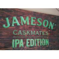 Buy cheap Custom Printed Wood LED Signs & LED Displays Rectangular Shape Hanging Type product