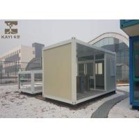 China Glass Wool Panels Prefabricated Container Homes Sturdy Durable With Cement Board Floor on sale