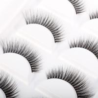 Buy cheap 3D Real Faux Mink Lashes Natural Long Handmade 100% Cruelty Free For Daliy Makeup product