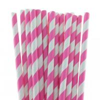 Buy cheap multi-type Decorative pattern colorful paper straws with 26mm length product