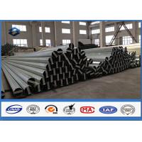 Buy cheap Material Q345 30FT 9150mm Galvanised Steel Pole 2.75MM / 3.0MM Wall thickness product