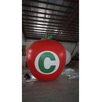 Quality 3.5m Height Apple Shaped Balloons Pantone Color Matched Printing Large for sale