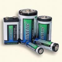 Buy cheap Green Alkaline Batteries with Dual Language Printed Metal Foil Jacket product