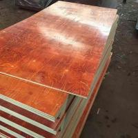Buy cheap Waterproof Red Film Faced Plywood , Melamine Laminated Plywood 2 Time Hot Press product