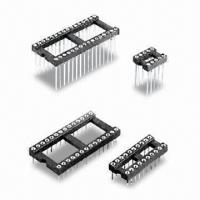 Buy cheap 6 to 28/22/24 to 48p IC Socket Machined Pin Tin-/Gold-plated 7.4/17.75/11.56mm, Four Fingered Clip product