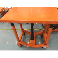 Orange Post Mobile Scissor Lift Table High Strength For Air Conditioning