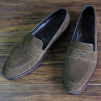 Quality Skyeshopping Genuine Seude Leather Men's Shoes Slip on Custom Made Loafers for sale