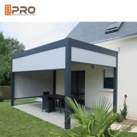 Buy cheap Motorized Opening Rotate Louver Modern Aluminum Pergola For Commercial Residential Buildings product