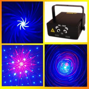 Buy cheap Blong M-100 Disco Bar Mini laser light show 250mW Red&Blue Pro Stage Lighting Sky Star Hot Wheel 3D Galaxy Laser Light product