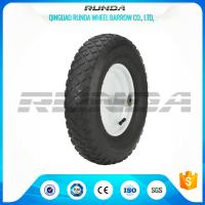 """Buy cheap Blocky Patterns Pneumatic Rubber Wheels 2PR ,  Hand Trolley Wheels8"""" Steel Rim product"""
