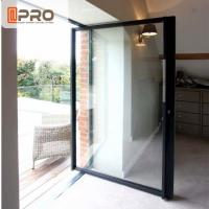 China Thermal Break Modern Aluminum Low - E Glass Pivot Door For Store / Double Pivot Door on sale