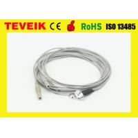 Buy cheap DIN1.5 Socket 1m OEM Medical Cable With Silver Chloride Plated Silver Electrodes product