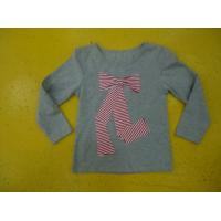 Buy cheap Big Bow Chest  Girls Stylish Top Girls Crew Neck T Shirt Top Nice Hand Feel product