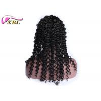 China 4 Clips Natural Human Hair Lace Front Wigs Deep Wave Brazilian Human Hair Swiss Lace wholesale