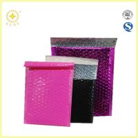 China Metallic glamour bubble mailers,colorful shiny foil bubble bag for packing gifts on sale