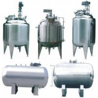 Buy cheap 6000L 300L 8000L Vertical / Horizontal Stainless Steel Agitator with  double - layer for mix water, milk product