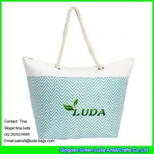 China LUDA discount handbags women shoulder beach handbags paper fabric straw handbag on sale