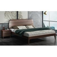 Buy cheap 2017 New Walnut Wood Bedroom Furniture Nordic design King size bed product