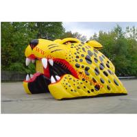 China Yellow inflatable tiger american football football helmet tunnel inflatable football dome on sale