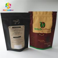 China Custom Gram Stand Up Roasted Coffee Pack Mylar Pouch Matte Finished With Aluminum Foil Food Grade Coffee Bean Powder Bag on sale