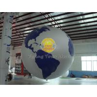 Buy cheap Reusable Round Earth Globe Balloons with 170mm tether points for Entertainment events product