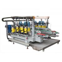 Buy cheap Stainless Steel Material Glass Straight Line Edging Machine 2500 mm with PLC touch screen product