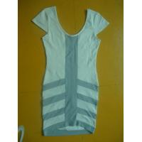 Buy cheap Simple V Neck Short Sleeve Dress , Multi Panels Business Casual Dresses For Women product