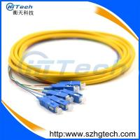 China Round Type 6 Core Single Mode Fiber Optic Cable With SC Connector on sale