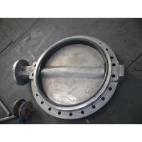 China Large Double Flanged Butterfly Valve / Water Butterfly Control Valve on sale