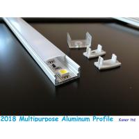 Quality Aluminum extrusion for kitchen cabinet opal plastic coverd led aluminum profile with clips end caps accessory for sale