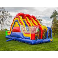 China 3 Lane Alternate Big Inflatable Obstacle Course With 0.55mm Pvc Material wholesale