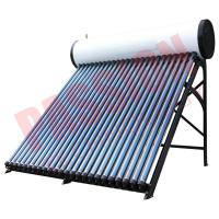 Buy cheap Roof Mounted Heat Pipe Solar Water Heater , 300 L Closed Loop Solar Hot Water System product
