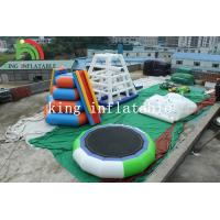 Buy cheap 5m D Green / White Inflatable Trampoline PVC Inflatable Water Toy For Adults product