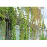 Buy cheap Plant Climbing Metal Garden Wire Trellis / Stainless Steel Ferrule Rope Mesh product