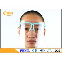 Buy cheap PET Clear Disposable Face Shield With Sponge Frame For Dental Protection product