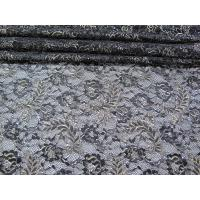 Buy cheap Vintage Metallic Lace Fabric Blue , Nylon Tulle Floral Lace Fabric SYD-0002 product