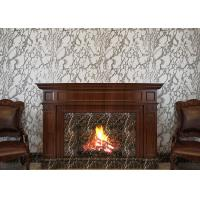 Buy cheap PVC Strippable TV Background Wallpaper , Grayish White Marble Wall Covering product