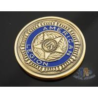 Buy cheap Custom Logo Soft Enamelled US 3D effect Challenge Coins Antique gold With Soft Enamel Both side product
