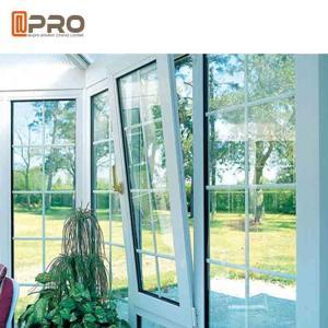 Buy cheap Horizontal Opening Pattern Tilt And Turn Aluminium Windows , Wooden Double Glazed Window product