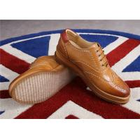 Buy cheap Sheepskin Upper Women'S Wingtip Oxford Shoes , Ladies Lace Up Oxford Shoes product