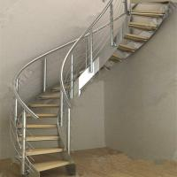 Buy cheap Modern Luxury  Steel Curved Structure Staircase product