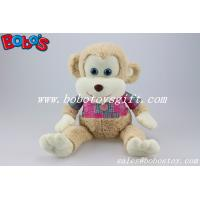 Buy cheap CE Approved Super Soft Stuffed Monkey Animals With Pink T-shirt product