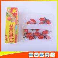 Buy cheap Household Zip Lock Plastic Food Storage Bags Recyclable For Keeping Fresh product