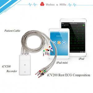 High Definition IOS IPad Handheld Ecg Machine With Wifi Bluetooth Transfer Data
