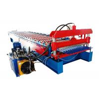China Popular Corrugated Steel Roofing Sheet Roll Forming Machine For Wall And Roof Of House on sale
