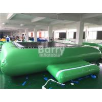 China Green Inflatable Water Toys Water Trampoline For Floating Water Park Equipment wholesale