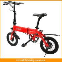 Girls Mini Folding Bike Electric Boost Bicycle In Red , CE / Rohs Approval
