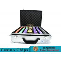 Stripe Suited Casino Poker Chip Set , 12g Poker Chip Sets With Denominations