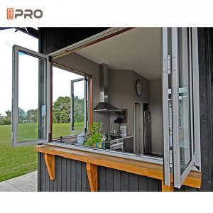 Buy cheap Double Glazed Glass 6063 T5 Aluminium Bifold Windows product