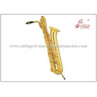Buy cheap Woodwind Musical Instruments Baritone Saxophone Eb Low A# Gold Lacquered product